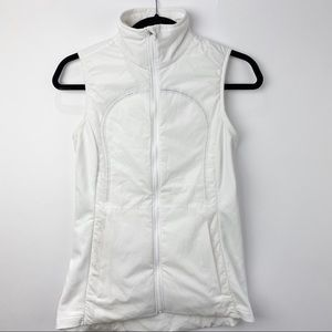 Lululemon white reflective running vest